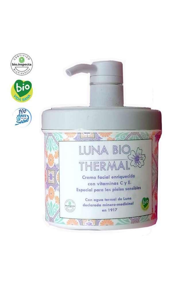 Crema facial bio-termal para tratamiento facial profesional