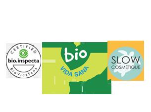 Certificado por Bio Inspecta-Vida sana y con el sello Slow Cosmétique