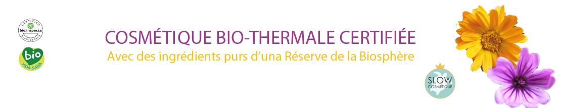 Cosmétique Bio-thermale faite dans la vallée de Luna, Réserve de la Biosphère
